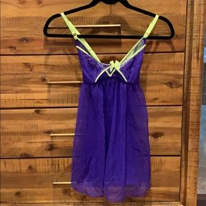 Other - Vs Victoria's Secret neon yellow purple babydoll